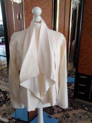 Leather Blouse natural white