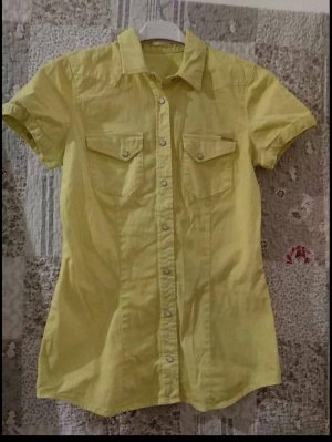 Gas Checked Blouse yellow