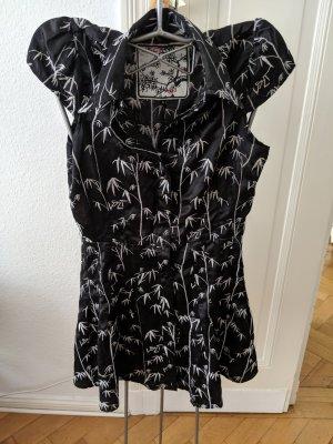 Blusen mini kleid im japanischen stil