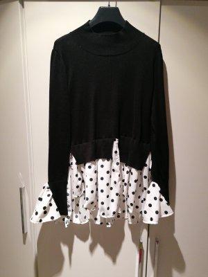 QED London Maglione twin set bianco-nero