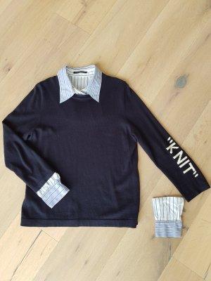 Luisa Cerano Kaszmirowy sweter ciemnoniebieski