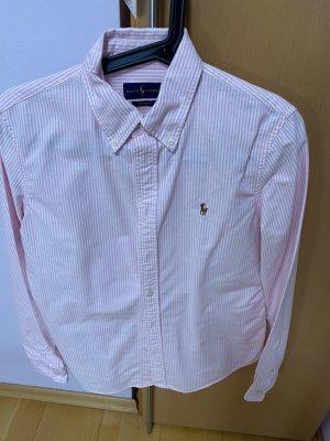 Blusen Ralph Lauren blau und rosa weiss gestreift