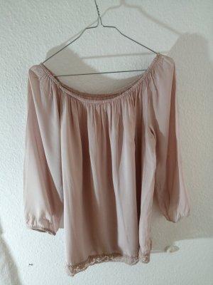 Camisa tipo Carmen rosa