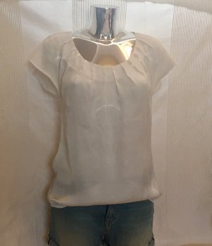 Glanzende blouse wit