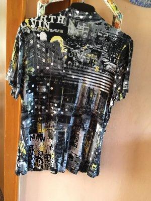 1.2.3 Paris Long Shirt black-yellow
