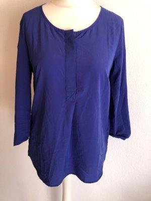 Blusen Shirt locker 3/4 Ärmel blau Gr. S