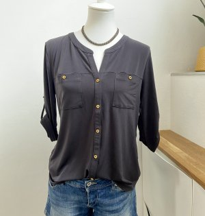 Blusen - Shirt m. goldf. Knödeln