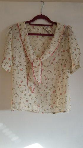 Blusen Shirt mit leichten Puffärmel