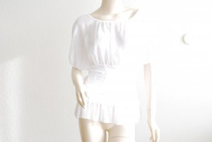 Top taille empire blanc viscose