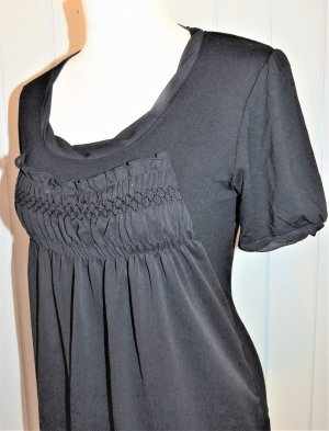 Blusen-Shirt Tunika schwarz von Patrizia Dini in Größe 36.