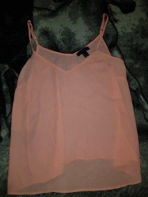 Primark Top in seta arancione-rosa chiaro