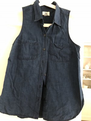 Old Navy Blusa de manga corta azul oscuro
