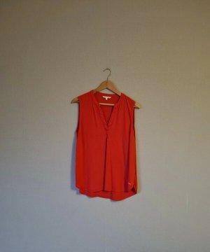 Blusen Top in rot, Tom Tailor Größe L
