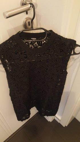 VERSUS Versace Top de ganchillo negro