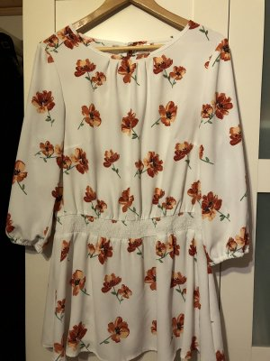 BODY FLIRT Tunique-blouse blanc cassé-rouge brique