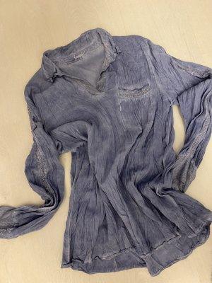 Blusen Tunika, Gr M, Schönes Jeansblau