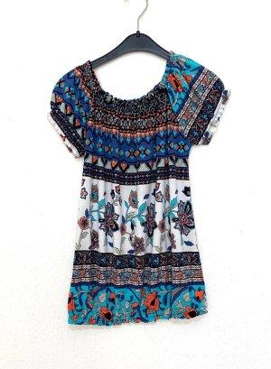 Vintage Empiècement de blouses multicolore