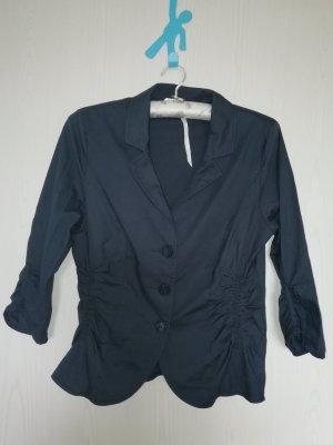 Bexleys Short Blazer dark blue cotton
