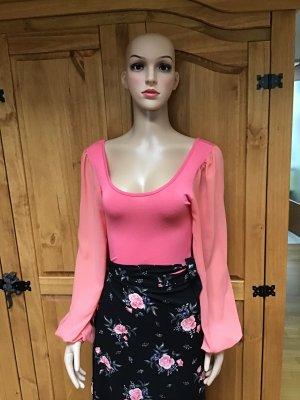 Bodyblouse roze-zalm