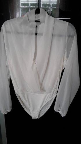 Patrizia Dini Body koszulowe w kolorze białej wełny