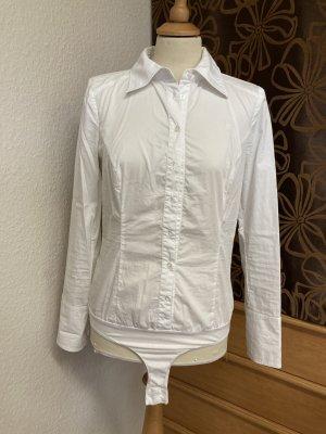edc by Esprit Chemise à manches longues blanc tissu mixte