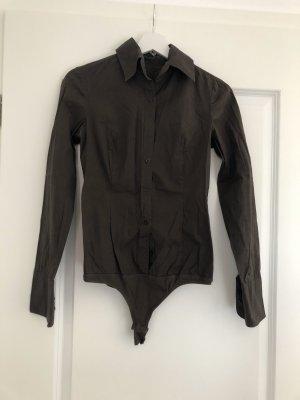 Sisley Camicetta body marrone-nero