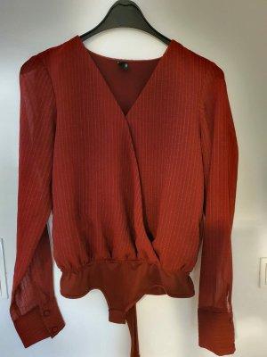 Vero Moda Body koszulowe głęboka czerwień