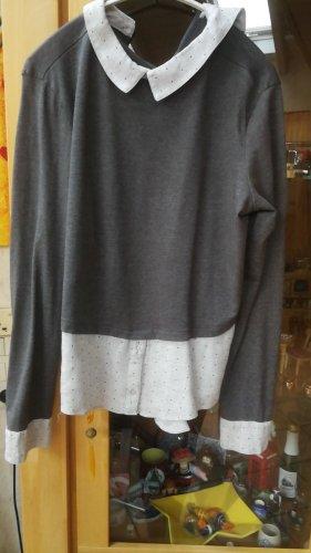 Colletto camicia nero-grigio