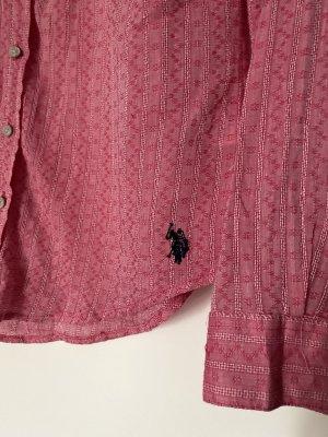 Blusenhemd für den Sommer in rosa von U.S. Polo in Größe M / 38