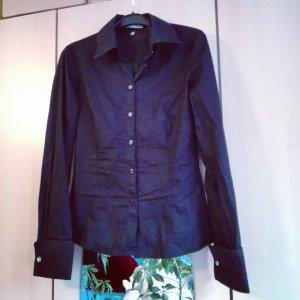 Blusenhemd Gr. 32 Schwarz