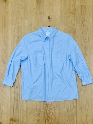 Blusenhemd hellblau v Campanella neu m Etikett 3/4 arm Gr. 50/ 5Xl