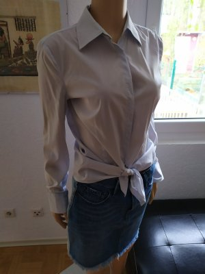Blusenhemd Hemdbluse mit Stretch hellblau Stefanel tailliert