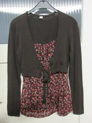 s.Oliver Blouse Jacket brown-bright red