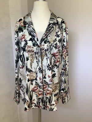 Mango Kimono Blouse multicolored acetate