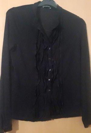 Blusenjacke, Luisa Cerano, Größe 40, schwarz, leichtes Strickmaterial