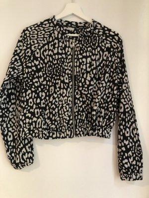 Gina Tricot Giacca a blusa nero-bianco