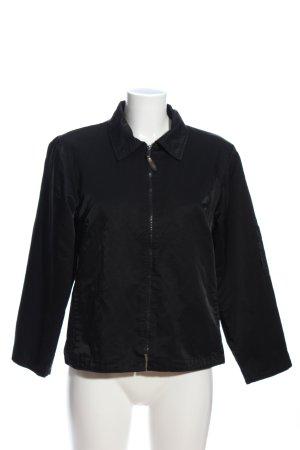 Veste chemisier noir style décontracté