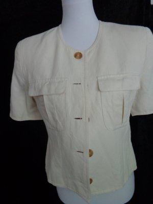 Apriori Bluzka z krótkim rękawem jasnożółty-kremowy