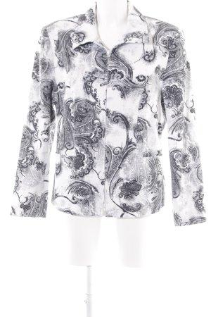Blusenjacke weiß-schwarz Casual-Look