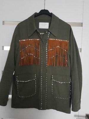 Zara Blouse Jacket olive green