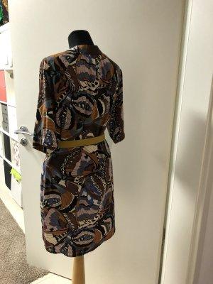 Shirtwaist dress purple-light brown