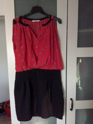 See u soon Abito blusa nero-rosso chiaro
