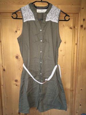 H&M L.O.G.G. Vestido vaquero caqui-gris verdoso