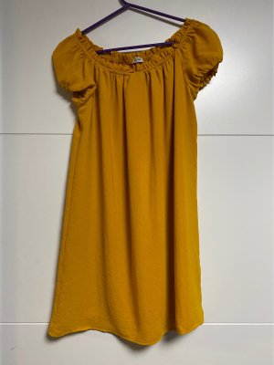 Pimkie Blouse Dress gold orange