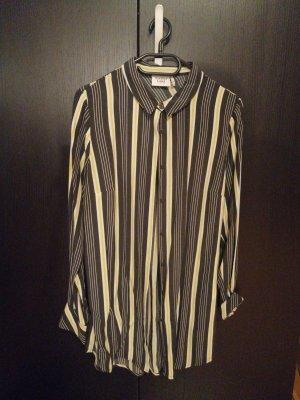 Another Label Robe chemisier noir-jaune