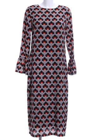 Blusenkleid abstraktes Muster Business-Look
