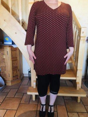 Bodyflirt Sukienka koszulowa głęboka czerwień-jasnobeżowy