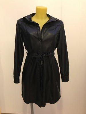 C&A Vestido effecto piel negro