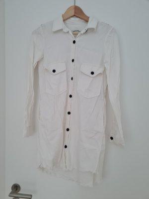 Blusenkleid aus weißem Jeansstoff