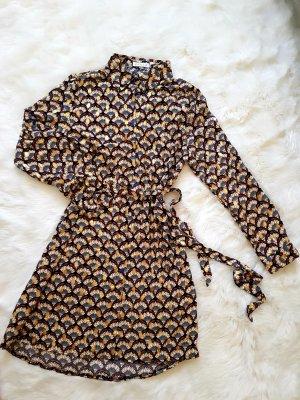 Shirtwaist dress gold-colored-brown